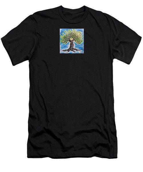 Climb-on Love Tree Men's T-Shirt (Athletic Fit)