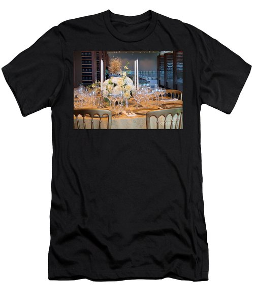 Clinton State Dinner 1 Men's T-Shirt (Slim Fit) by Randall Weidner