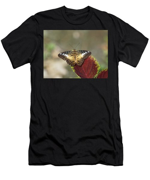 Men's T-Shirt (Athletic Fit) featuring the photograph Clipper Butterfly by Paul Gulliver