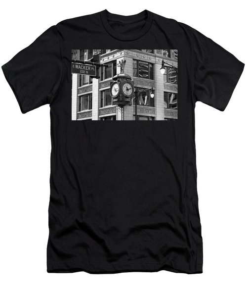 Clock On Jewelers Building - Chicago Men's T-Shirt (Athletic Fit)