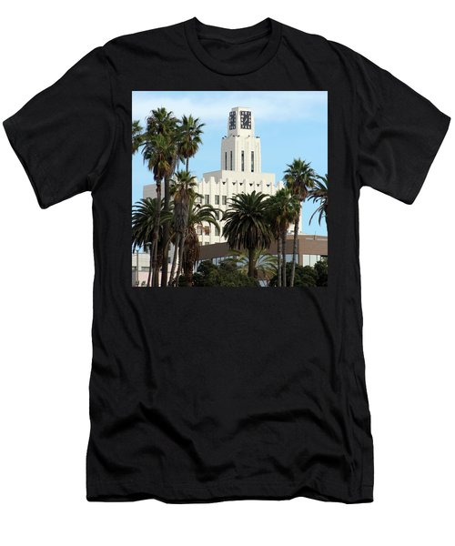 Clock Tower Building, Santa Monica Men's T-Shirt (Athletic Fit)