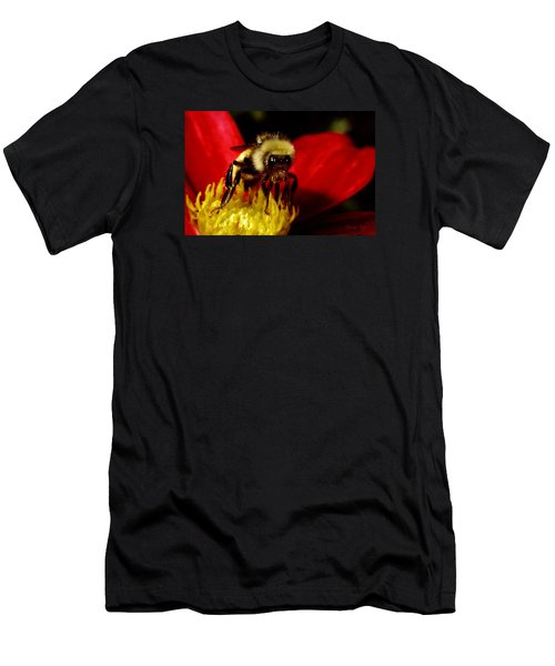 Close Up Bee Men's T-Shirt (Athletic Fit)