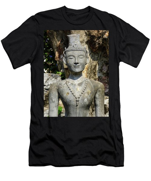Close Up Of A Statue Depicting A Thai Yoga Pose At Wat Pho Temple Men's T-Shirt (Athletic Fit)