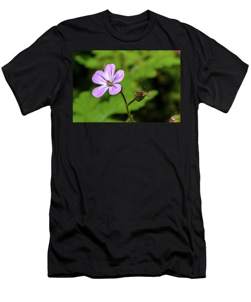 Close Up Of Shining Cranesbill A Men's T-Shirt (Athletic Fit)