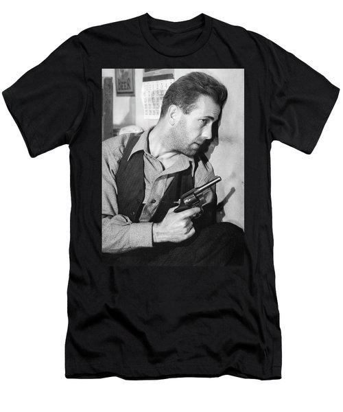 Close-up Up Of Humphrey Bogart As Duke Mantee With Gun The Petrified Forest 1936 Men's T-Shirt (Athletic Fit)