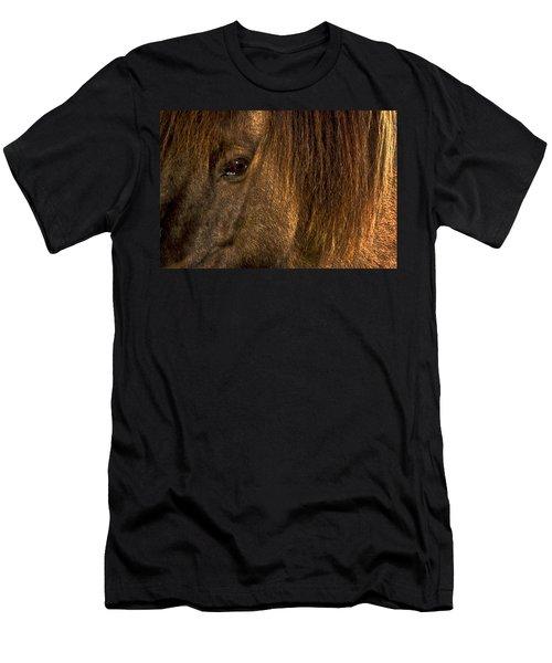 Closeup Of An Icelandic Horse #2 Men's T-Shirt (Athletic Fit)