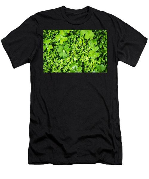Lush Green Soothing Organic Sense Men's T-Shirt (Athletic Fit)