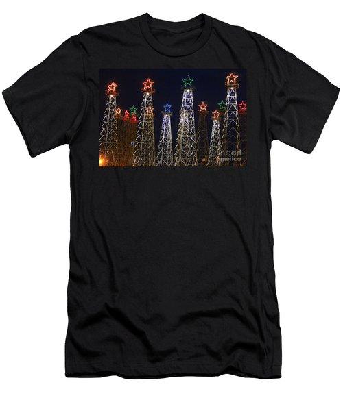 Closeup Of Kilgore Texas Derricks Men's T-Shirt (Athletic Fit)