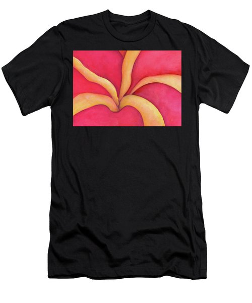 Closeup Of Red Rose Men's T-Shirt (Athletic Fit)