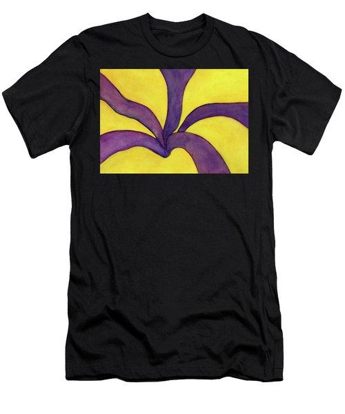 Closeup Of Yellow Rose Men's T-Shirt (Athletic Fit)