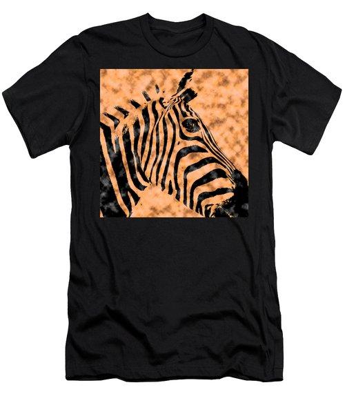 Cloud Face Zebra Men's T-Shirt (Slim Fit) by Bartz Johnson