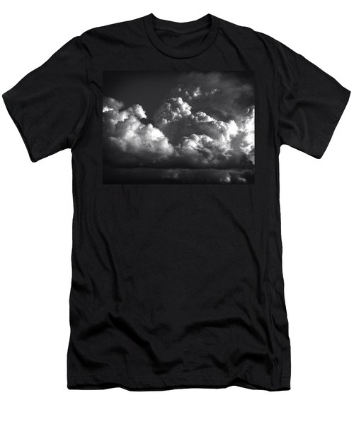 Men's T-Shirt (Slim Fit) featuring the photograph Cloud Power Over The Lake by John Norman Stewart