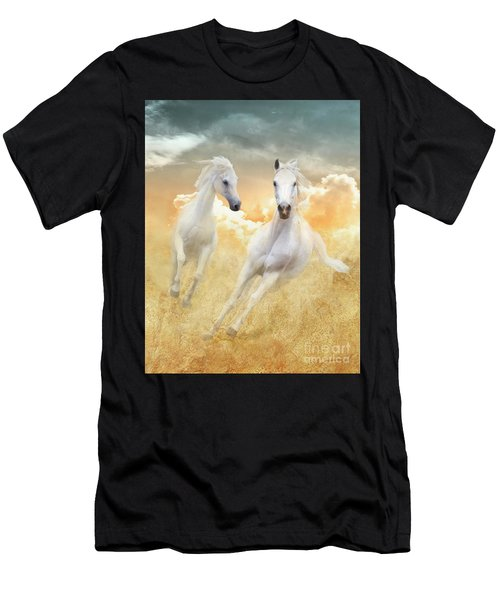 Men's T-Shirt (Athletic Fit) featuring the photograph Cloud Runners by Melinda Hughes-Berland
