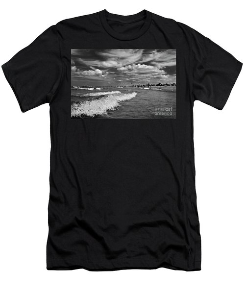 Men's T-Shirt (Athletic Fit) featuring the photograph Cloud Sound Drama by Silva Wischeropp