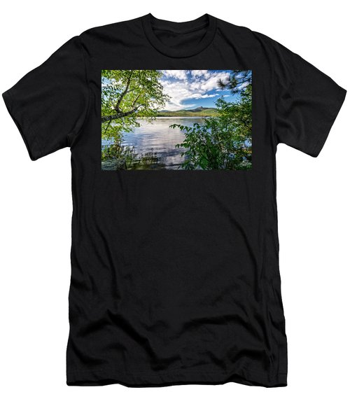 Men's T-Shirt (Athletic Fit) featuring the photograph Cloud Swirl Mt. Chocorua Nh by Michael Hubley