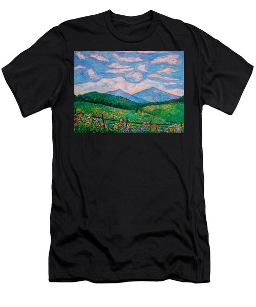 Cloud Swirl Over The Peaks Of Otter Men's T-Shirt (Athletic Fit)
