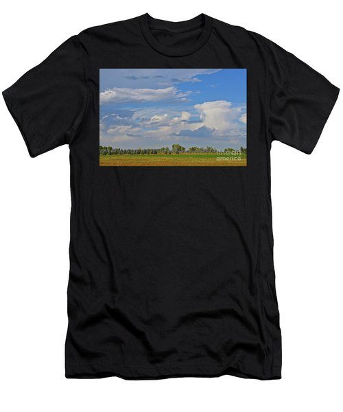 Clouds Aboive The Tree Farm Men's T-Shirt (Athletic Fit)