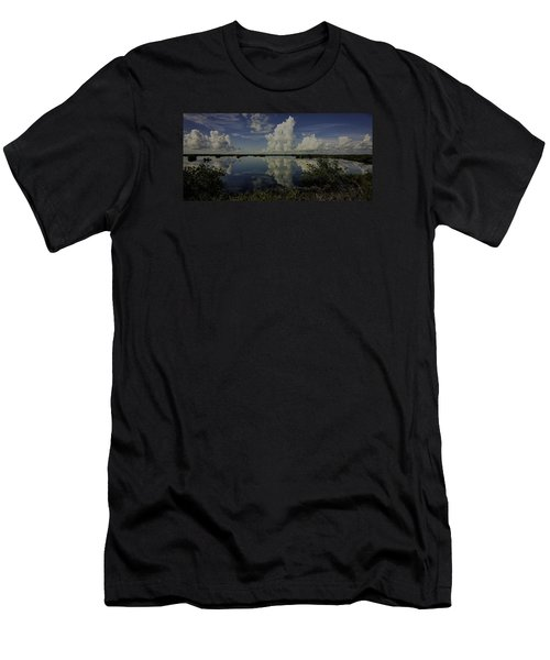 Clouds And Reflections Men's T-Shirt (Slim Fit) by Dorothy Cunningham
