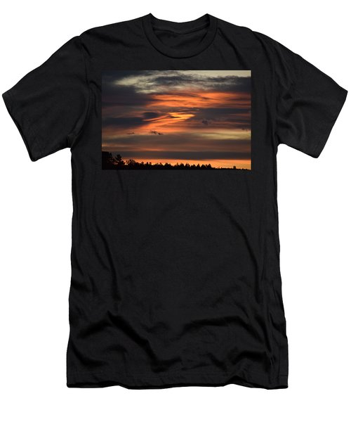 Men's T-Shirt (Athletic Fit) featuring the photograph Clouds At Dawn Over Ridge by Margarethe Binkley