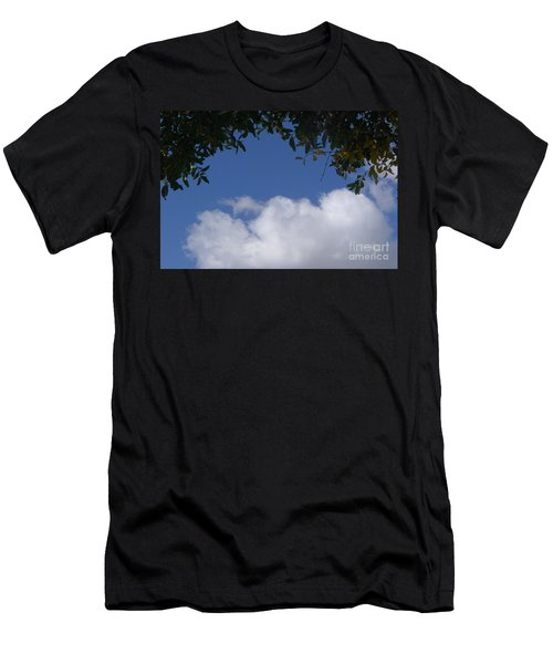 Clouds Framed By Tree Men's T-Shirt (Athletic Fit)