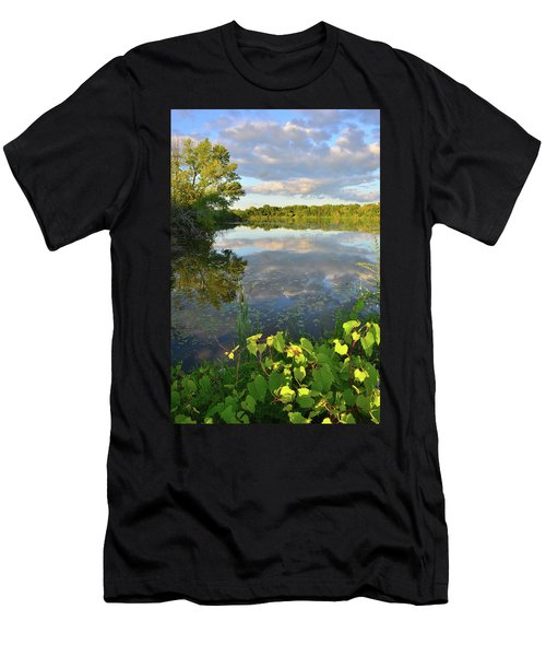 Clouds Mirrored In Snug Harbor Men's T-Shirt (Athletic Fit)