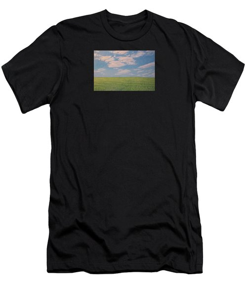 Clouds Over Green Field Men's T-Shirt (Athletic Fit)