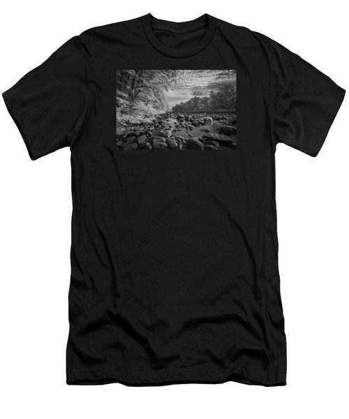 Clouds Over The River Rocks Men's T-Shirt (Athletic Fit)