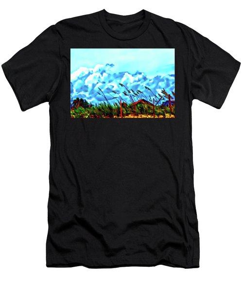 Clouds Over Vilano Beach Men's T-Shirt (Athletic Fit)