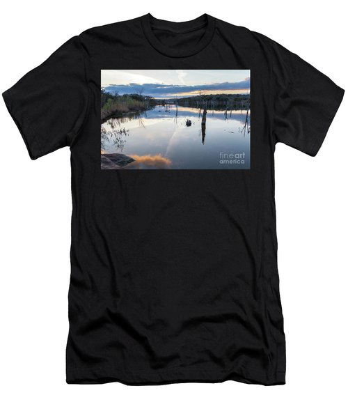 Clouds Reflecting On Large Lake During Sunset Men's T-Shirt (Athletic Fit)