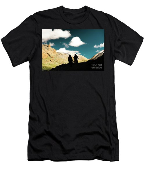 Clouds Way Kailas Kora Himalayas Tibet Yantra.lv Men's T-Shirt (Athletic Fit)