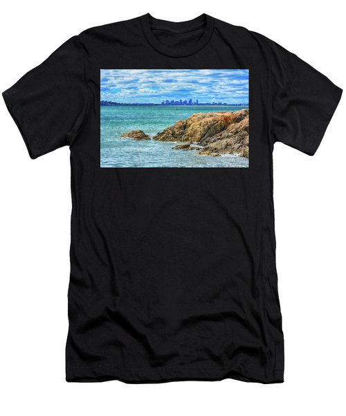 Cloudy Boston Men's T-Shirt (Athletic Fit)
