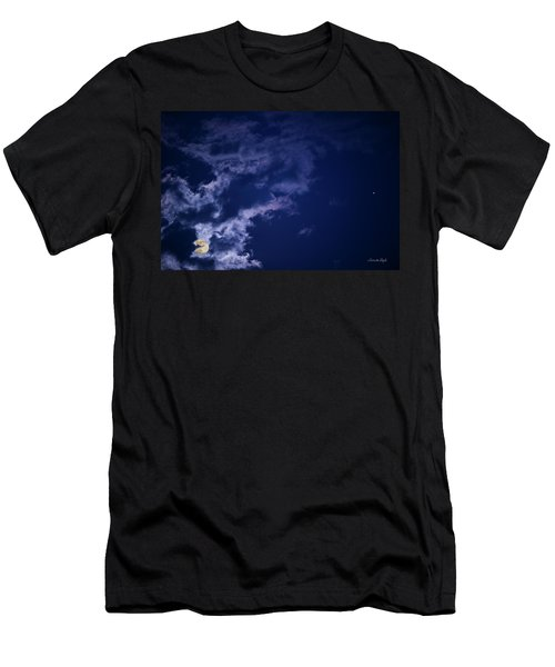 Cloudy Moon With Jupiter Men's T-Shirt (Athletic Fit)
