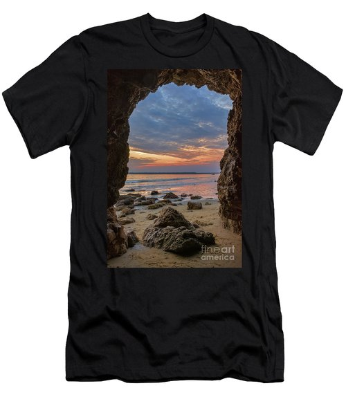 Cloudy Sunset At Low Tide Men's T-Shirt (Athletic Fit)