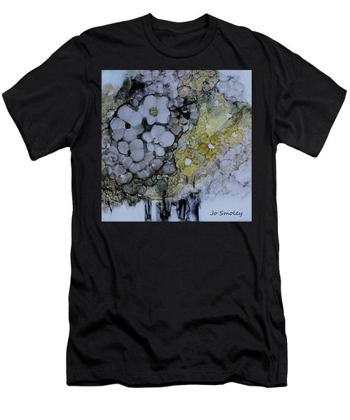 Men's T-Shirt (Slim Fit) featuring the painting Cloudy With A Chance Of Sunshine by Joanne Smoley