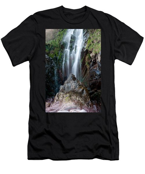 Clovelly Waterfall Men's T-Shirt (Athletic Fit)