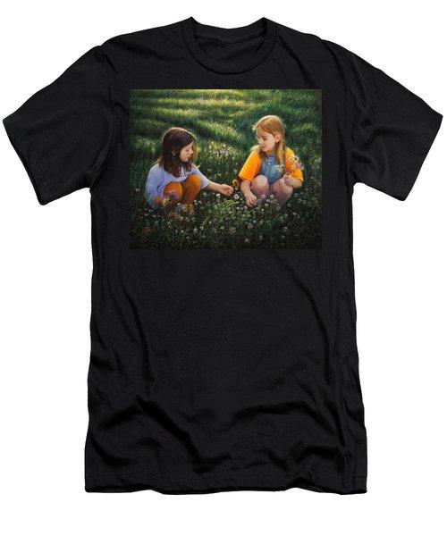 Clover Field Surprise Men's T-Shirt (Athletic Fit)