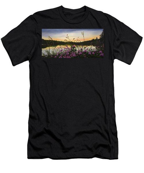Clover Sunrise  Men's T-Shirt (Athletic Fit)