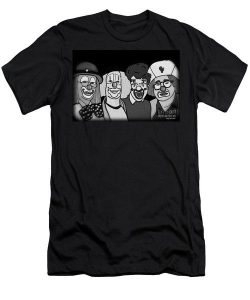 Clowns Bw Men's T-Shirt (Athletic Fit)