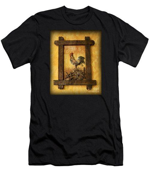 Co Co Ri Co Cockerel Men's T-Shirt (Athletic Fit)