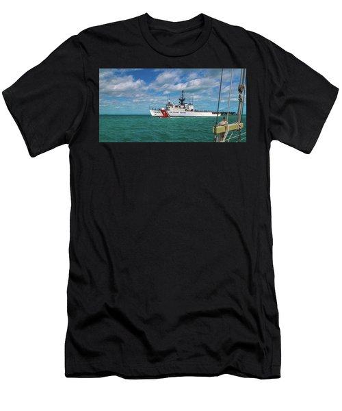 Coast Guard Heading Home Men's T-Shirt (Athletic Fit)