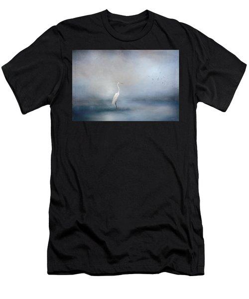 Coastal Egret Men's T-Shirt (Athletic Fit)
