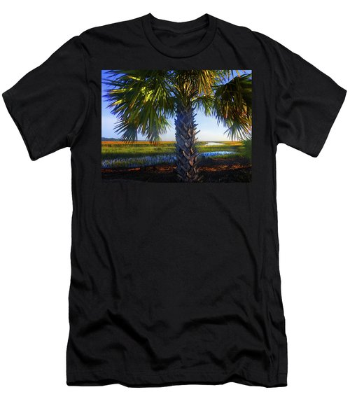 Coastal High Tide  Men's T-Shirt (Athletic Fit)
