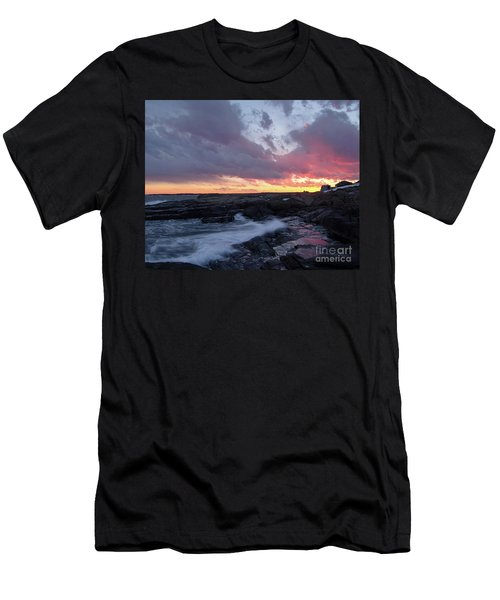 Coastal Sunset Cape Neddick - York Maine  -21056 Men's T-Shirt (Athletic Fit)
