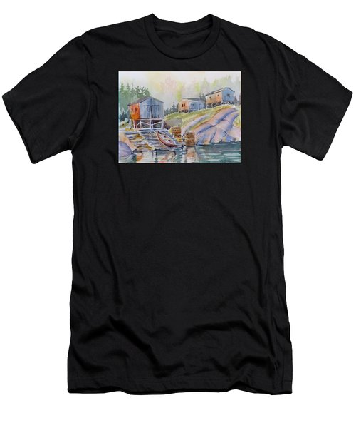 Coastal Village - Newfoundland Men's T-Shirt (Athletic Fit)