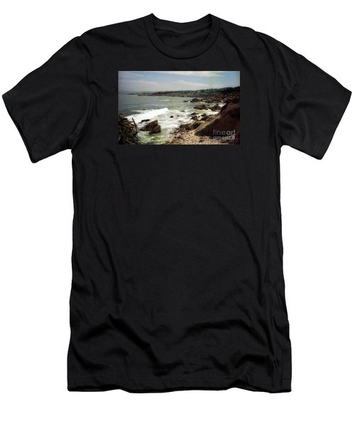 Coastal Waves And Rocks Men's T-Shirt (Athletic Fit)