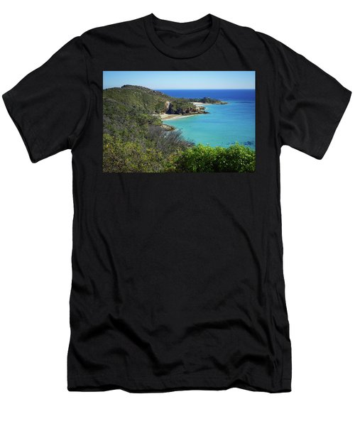 Coastline Views On Moreton Island Men's T-Shirt (Athletic Fit)