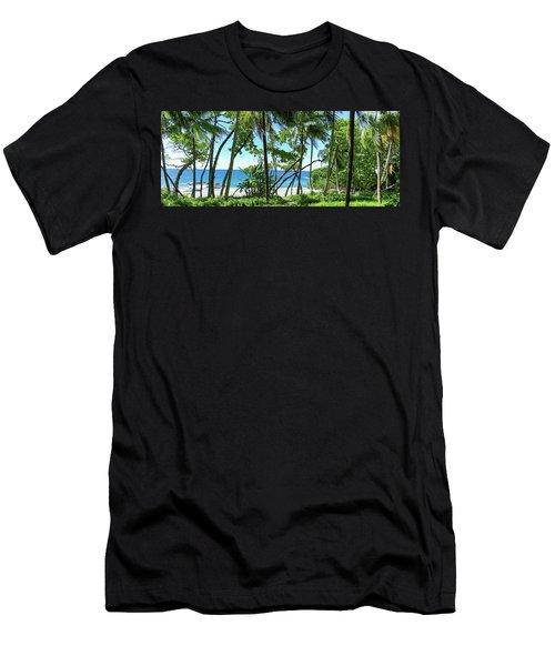 Coata Rica Beach 1 Men's T-Shirt (Athletic Fit)