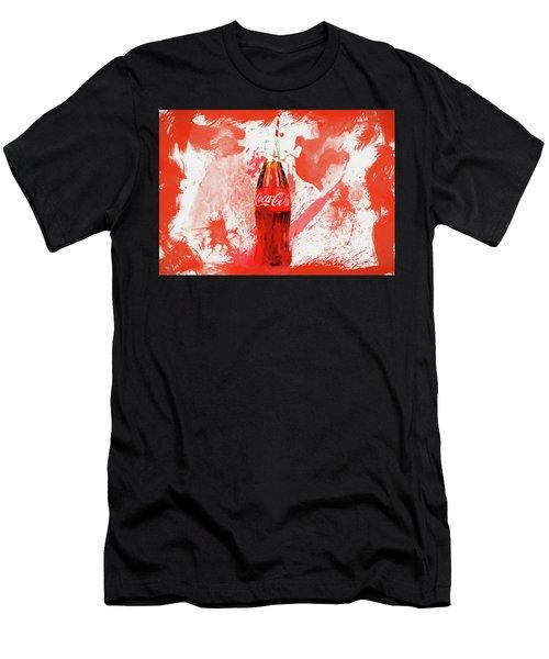 Coca Cola Bottle Splatter Men's T-Shirt (Athletic Fit)