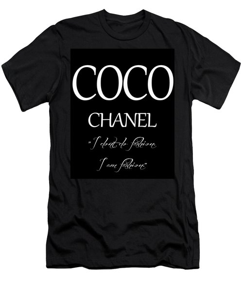 Coco Chanel Quote Men's T-Shirt (Slim Fit) by Dan Sproul