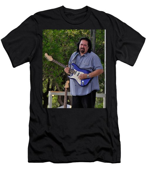 Coco Montoya And His Ocean Blue Fender American Standard Stratoc Men's T-Shirt (Slim Fit)